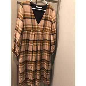 ZARA WOMEN PLAID DRESS SIZE 2